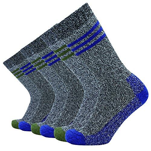 Enerwear ZY1717 Men's 6 Pack Cotton Casual Crew Socks (10-13/Shoe: 6-12, Mix Color - Tumblr Men Nylon