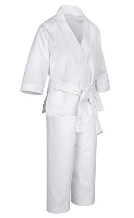 HOGAR AMO Niños Karate Uniforme Estudiante Tradicional Karate de Principiante Traje para la Competición de Entrenamiento con Cinturón Cinturón ...