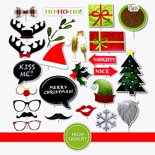 Christmas Theme Holiday Photo Booth Prop Set 25