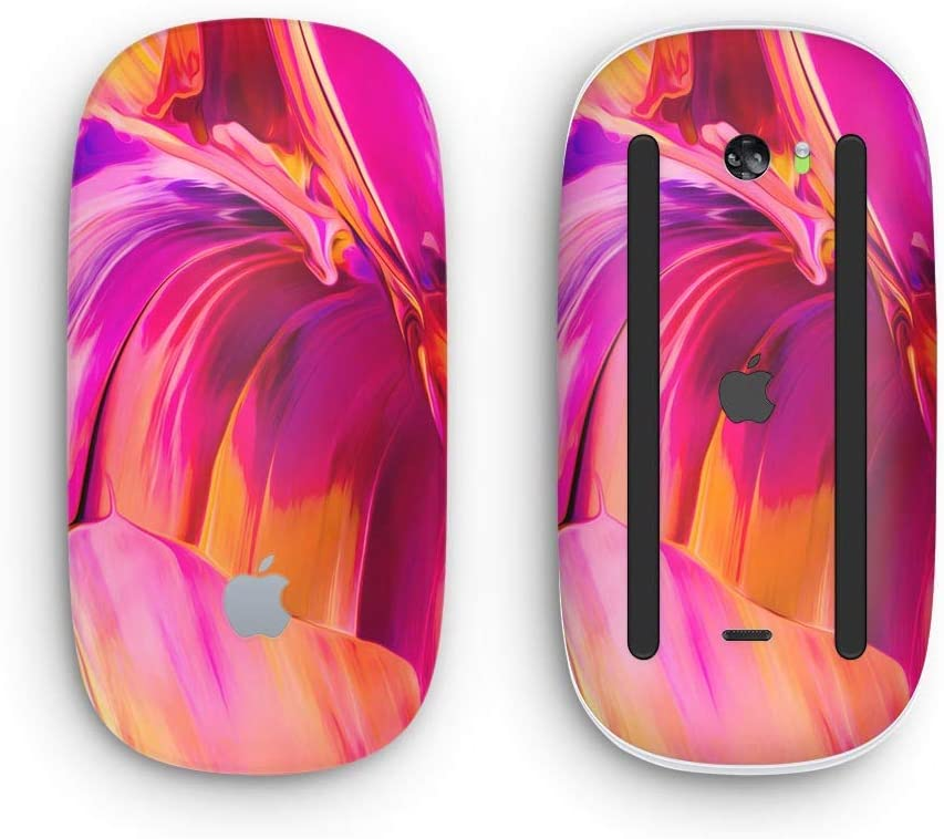 Blurred Abstract Flow V50 Design Skinz Premium Vinyl Decal for The Apple Magic Mouse 2 Wireless, Rechargable with Multi-Touch Surface