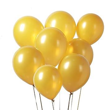 PuTwo Globos Dorados, Globos 100 Piezas 12 Inch Oro Globos Dorados Metalizados Globos Latex Oro