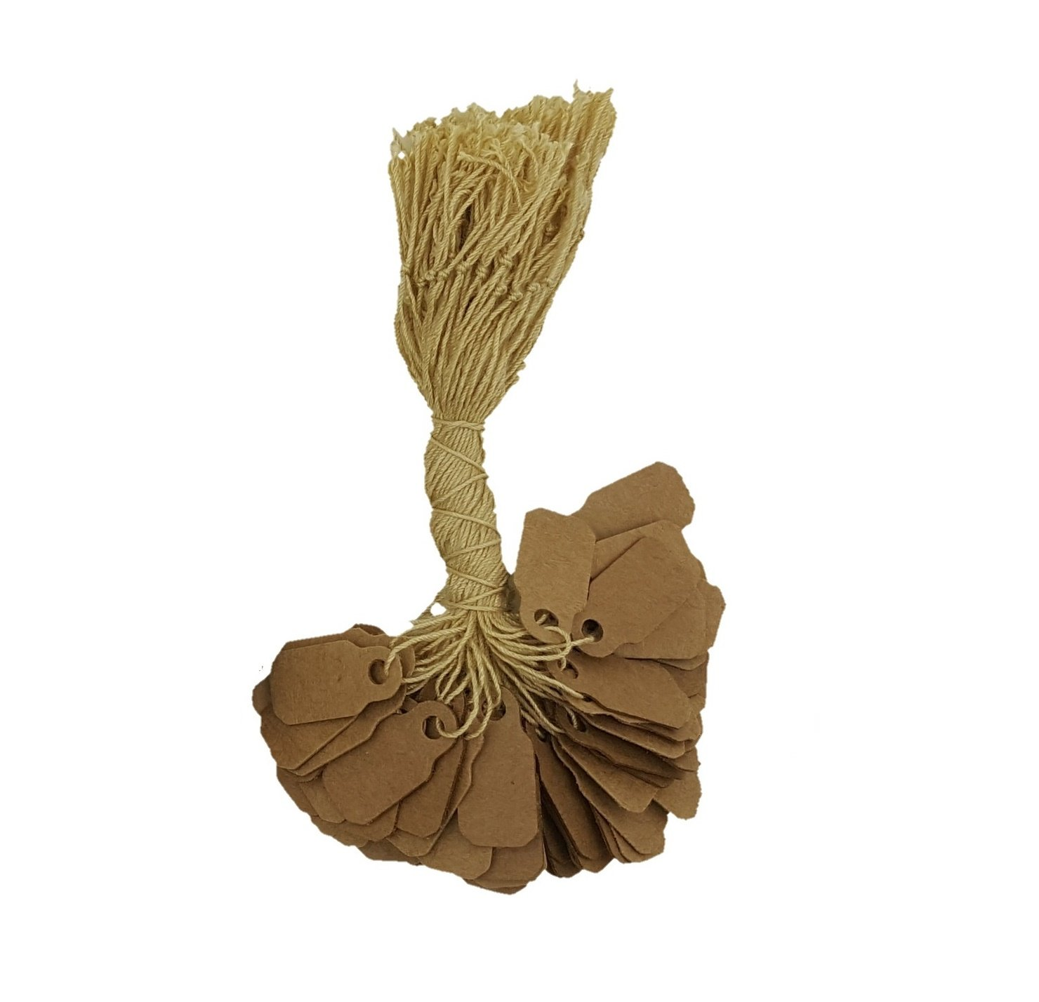 888 Display 100 Paper Kraft String Price Tags Jewelry Ring Sale Display (100 Pcs) 888 Display USA 7881-1