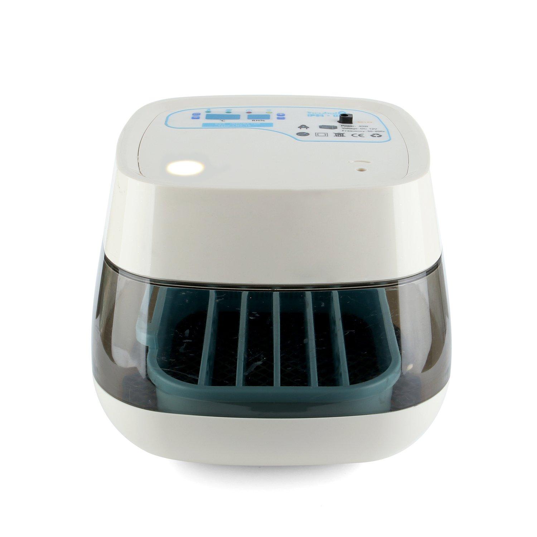 全自動孵卵器 インキュベーター 家用 小型孵化器 フランキー 温度湿度ディスプレイ 自動転卵 検卵機能付き 16枚 ホワイト B06XQY5524ホワイト