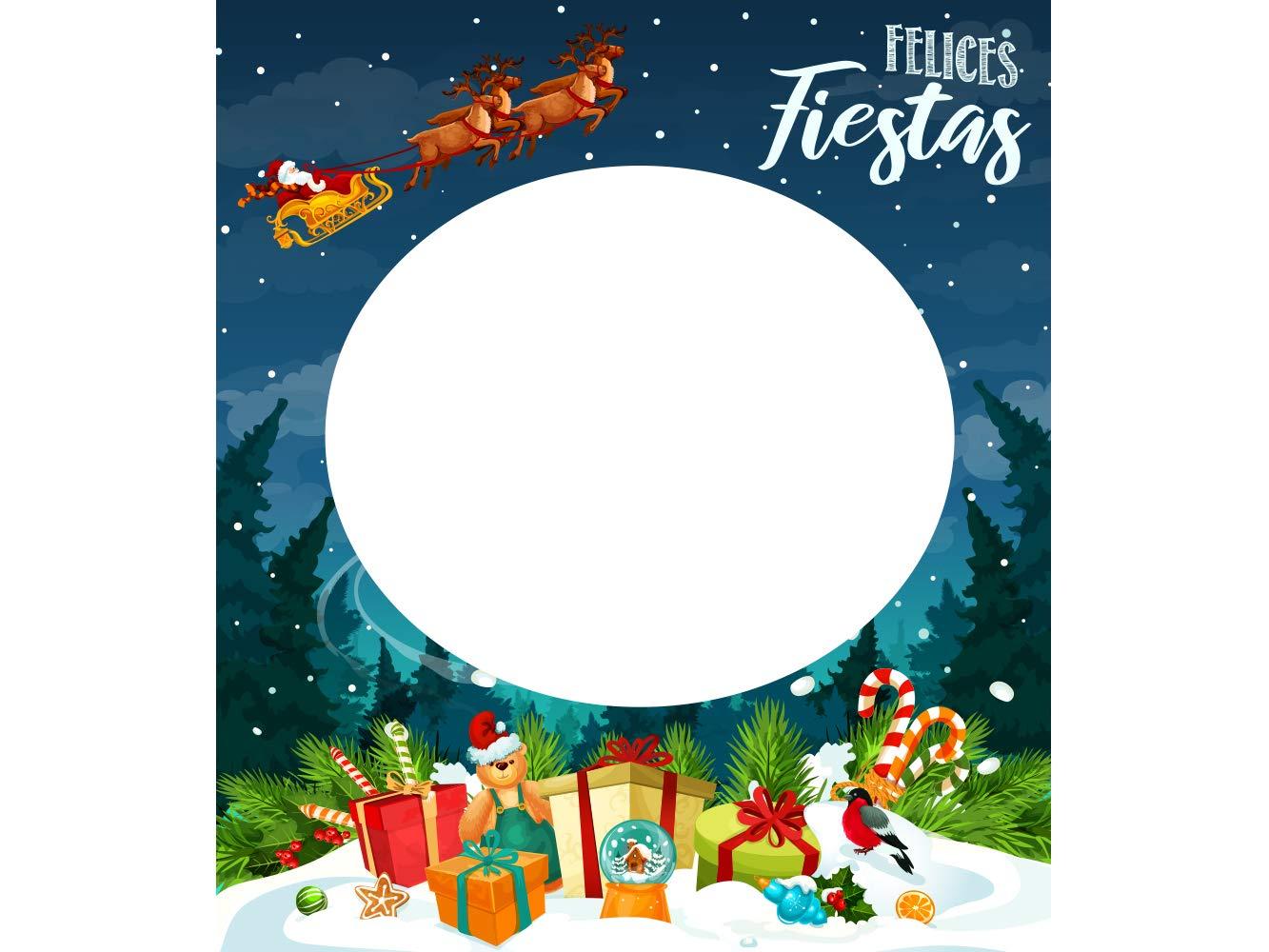 Photocall Felices Fiestas Photocall Econ/ómico y Original Photocall Troquelado Photocall en Cart/ón Felices Fiestas 100x114cm