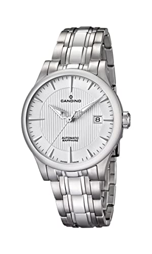 Candino Reloj Análogo clásico para Hombre de Automático con Correa en Acero Inoxidable C4495/3: Candino: Amazon.es: Relojes