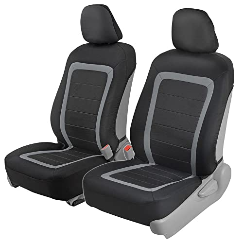 BDK Advanced Performance Car Seat Covers - Instant Install Sideless Front Seat Protector Pair - Modern