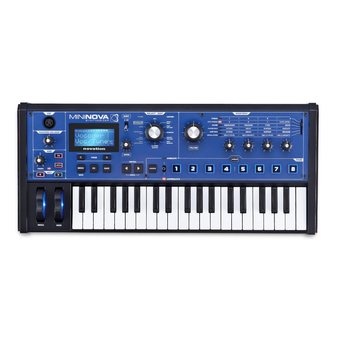 Novation MiniNova Analog Modeling Synthesizer by Novation