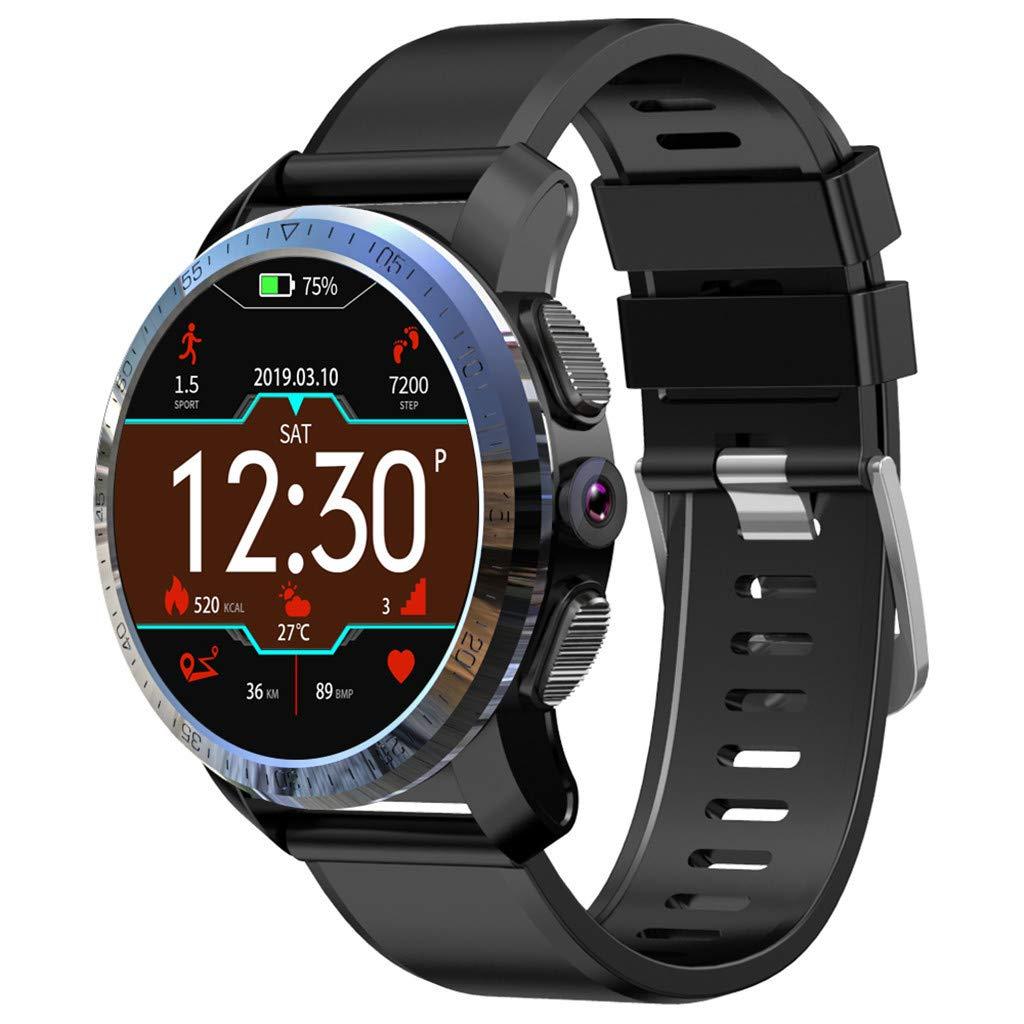 Larmly Smart Watch Phone KOSPET Optimus 2GB+16GB AMOLED 4G Dual Chip 8.0MP 800mAh IPX67 Smart Watch Phone (blackA)