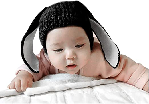 Baby Infant Winter Warm Rabbit Ears Knitted Cap Photogragh Hat Toddler 4 Colors