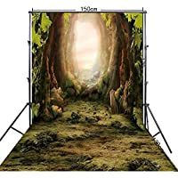 FiVan 5x10ft Fairy tale forest photography background Green backdrop FF-064