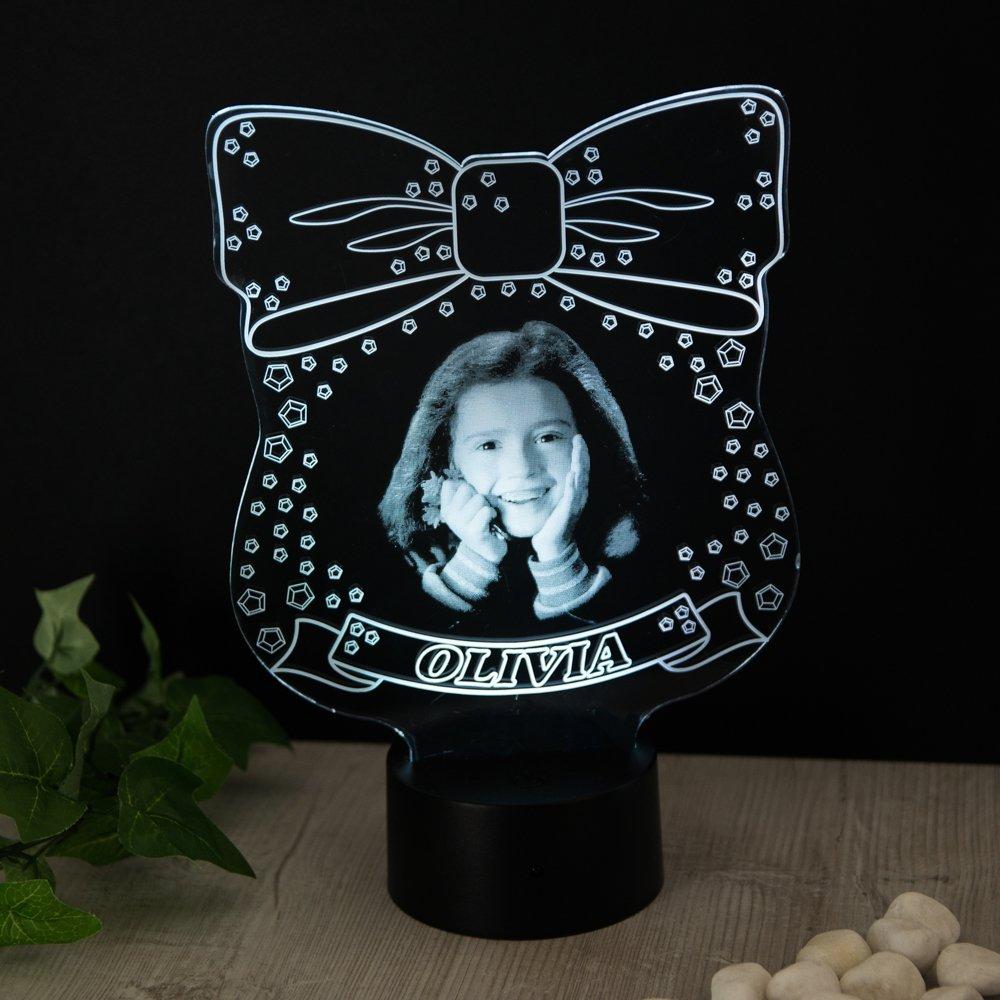 JoJo Siwa Ispirato Regalo Personalizzato con Foto Nome Luce Notturna 16 Colori