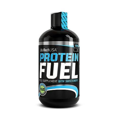 Biotech USA Protein Fuel, Liquid 500 Ml Proteínas Sabor Manzana y Lima - 500 ml
