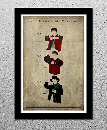 Marty McFly - Back to the Future - Delorean - Doc - Hill Valley - Original Minimalist Art Poster Print