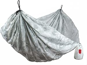GRAND TRUNK Kryptek Camouflage Double Hammock: Portable with Carabiners: Perfect for Camping, Hiking, Hunting, Or Any Outdoor Adventure, Yeti