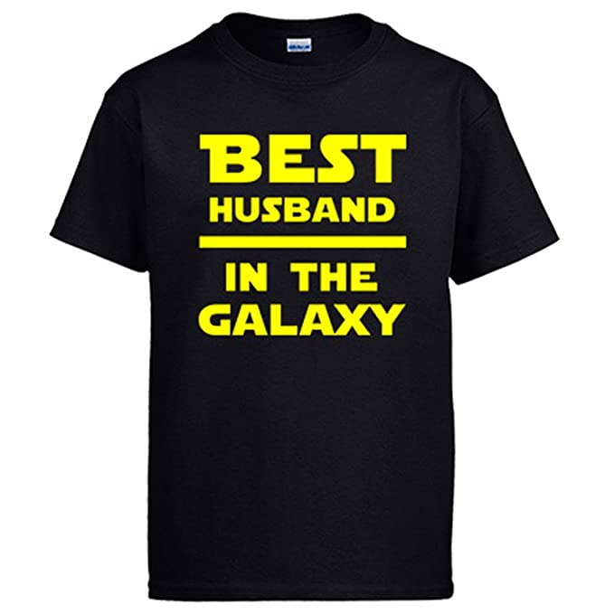 Diver Camisetas Camiseta Star Wars Best Husband In The Galaxy - Negro, 12-14