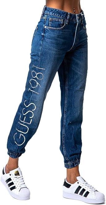 Guess Pantalones Vaqueros Para Mujer Roby Jogger W0ya40d3y08 Denim 24w X 30l Amazon Es Ropa Y Accesorios