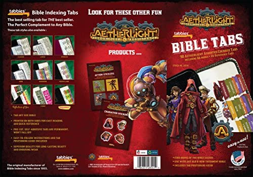 Tabbies Aetherlight Bible Tabs Old /& New Testament 28541 90 Assorted Including 66 Books /& 24 Reference Tabs Any Sized Bible