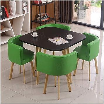Cocina Barra De Desayuno Mesa Juego De Sillas, Cocina Moderna Comedor Mesa Y 4 Sillas Amortiguador