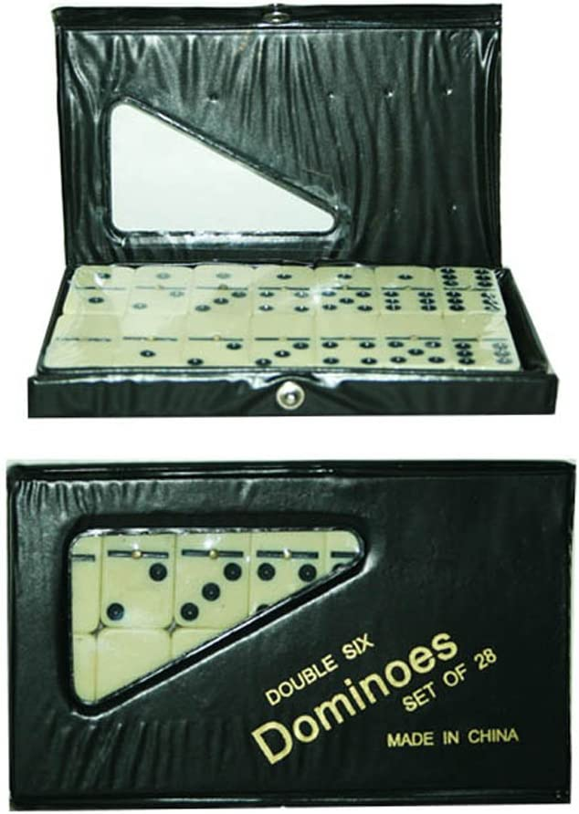 Double Six Set of 28 Dominoes in PVC Carry Case Traditional Travel Game Toy: Amazon.es: Juguetes y juegos