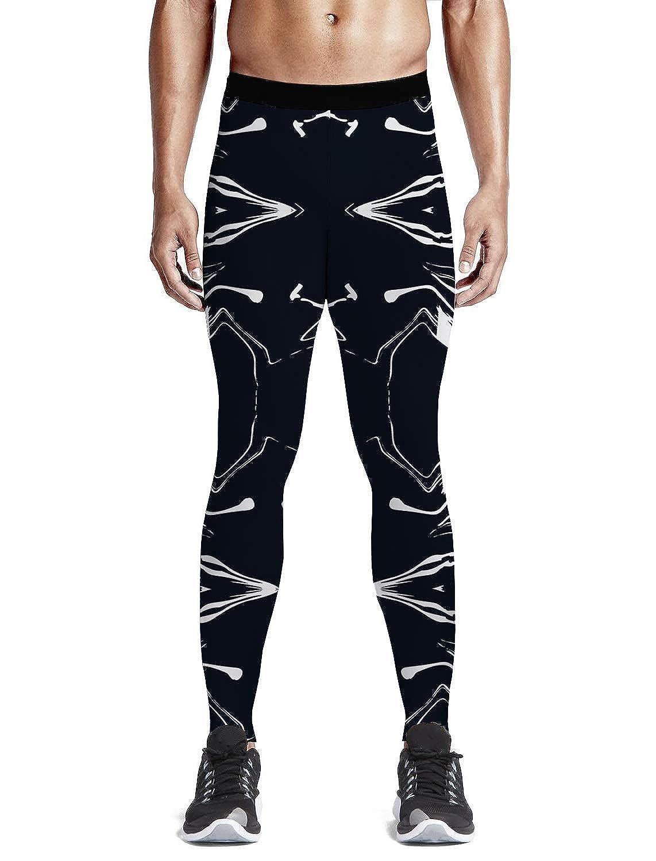 3256027bbd Amazon.com: Custom Men Leggings Full-Length Capri Leggings Compression Dry  Cool Tights Pants for Gym, Basketball, Cycling, Yoga, Hiking Marble Theme:  ...