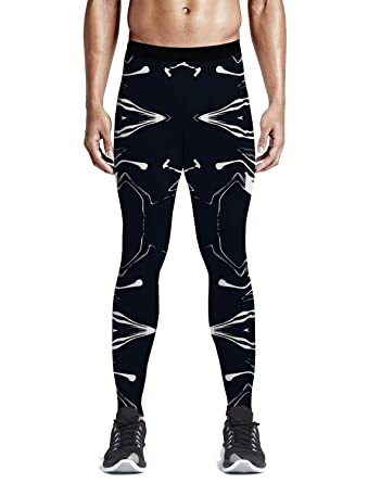 a6836edc61ddf Amazon.com: Custom Men Leggings Full-Length Capri Leggings Compression Dry  Cool Tights Pants for Gym, Basketball, Cycling, Yoga, Hiking Marble Theme:  ...