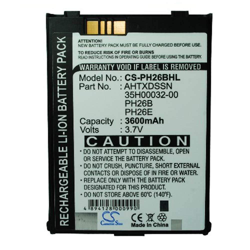 LNTSFE-EB 3600mAh/13.32Wh 3.7V PDA, Pocket PC Battery for AHTXDSSN PH26B Telecom CU928 Pocket PC Battery Universal PDA (Color : Black, Size : 71.13 x 57.83 x 11.75mm)