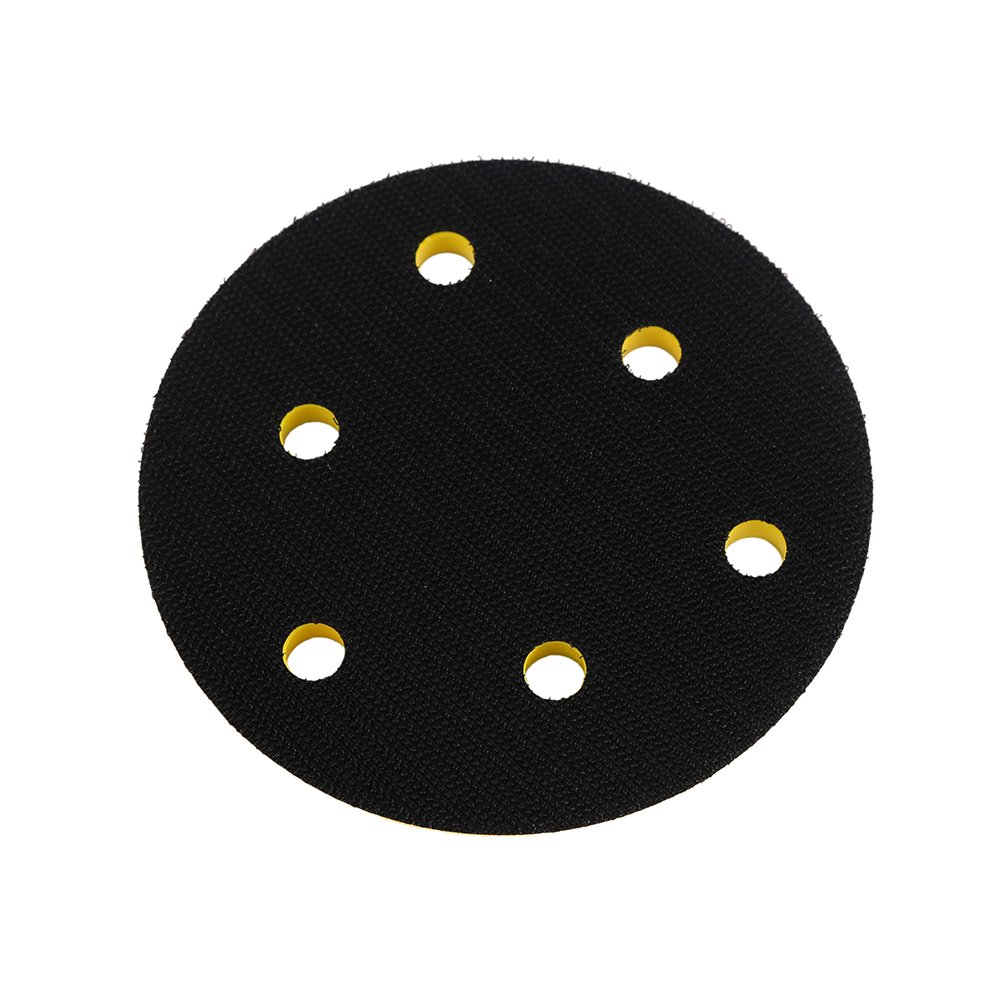 Ouya 2PCS 5 Inch 6-Hole Velcro Backing Pads 5/16-24 Threads Sanding Plate for Dual Action Polisher by Ouya (Image #2)