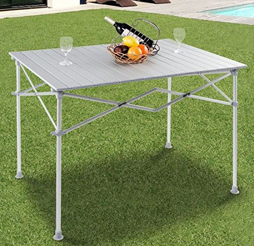 K&A Company Table Picnic Camping Folding Lightweight Aluminum Portable Outdoor Aluminium Hiking Garden Alloy Bbq Festival New by K&A Company