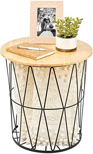 mDesign Modern Farmhouse Side/End Table