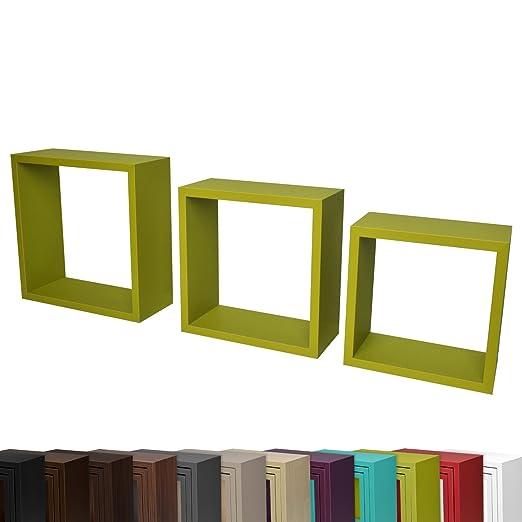 3 opinioni per Set da 3 mensole da parete a cubo- sistema di affissione a scomparsa 23, 26,5 e