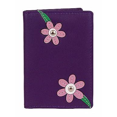 Mala funda de piel Diseño de flores de soporte para tarjeta ...