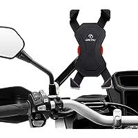 Grefay Universele smartphonehouder voor motorfiets, achteruitkijkspiegel, 360 graden draaibaar