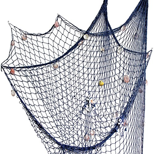 Kingso mediterranean style decorative fish net with anchor for Amazon fishing net