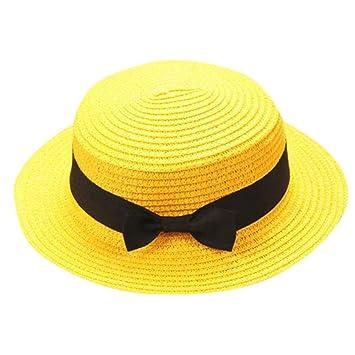 ZARLLE Sombrero De Paja ala Ancha Paja Bowknot Transpirable Sombrero  Sombreros para El Sol del Verano 16df1b338cf