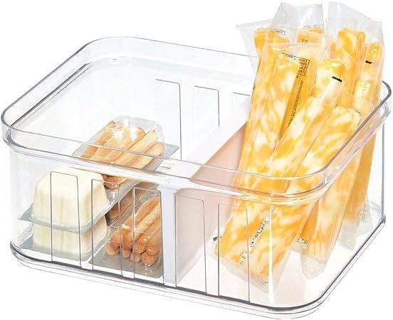 iDesign frigorífico, pequeña Caja de plástico Libre de BPA, Organizador de Nevera o despacho, Transparente, 21,1 cm x 16,1 cm x 9,6 cm: Amazon.es: Hogar