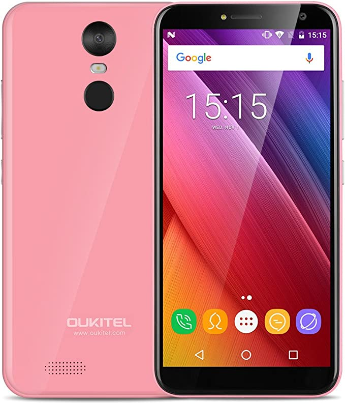 Oukitel - Smartphone Libre Android (Oukitel C8 Rosado): Amazon.es ...