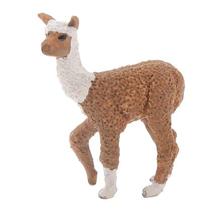 Desconocido Juegos de Peluches Zoológico Modelo Animal Figurilla Alpaca Realista Niños