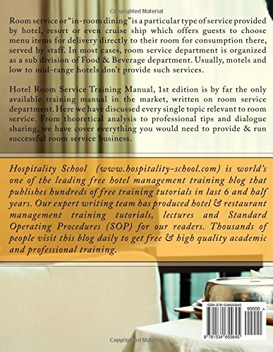 Hotel Room Service Training Manual: Hotelier Tanji