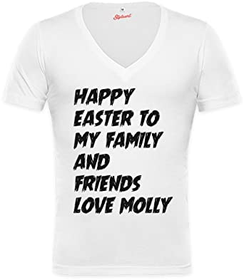 Happy Easter To My Family And Friends Love Molly Unisex Deep V Neck