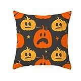 Qvwanle Halloween Trick or Treat Pillowcase Throw