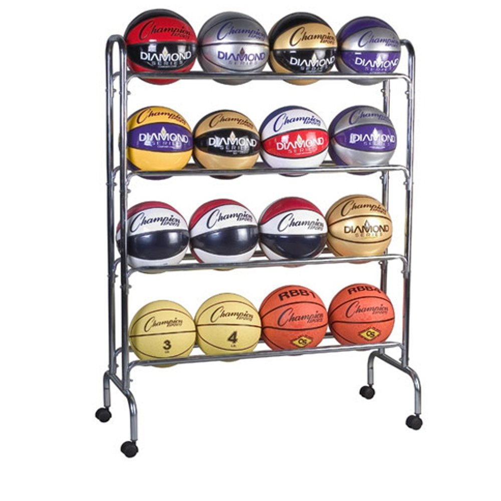 Champion Sports 16-Ball Steel Ball Storage Cart BRC4