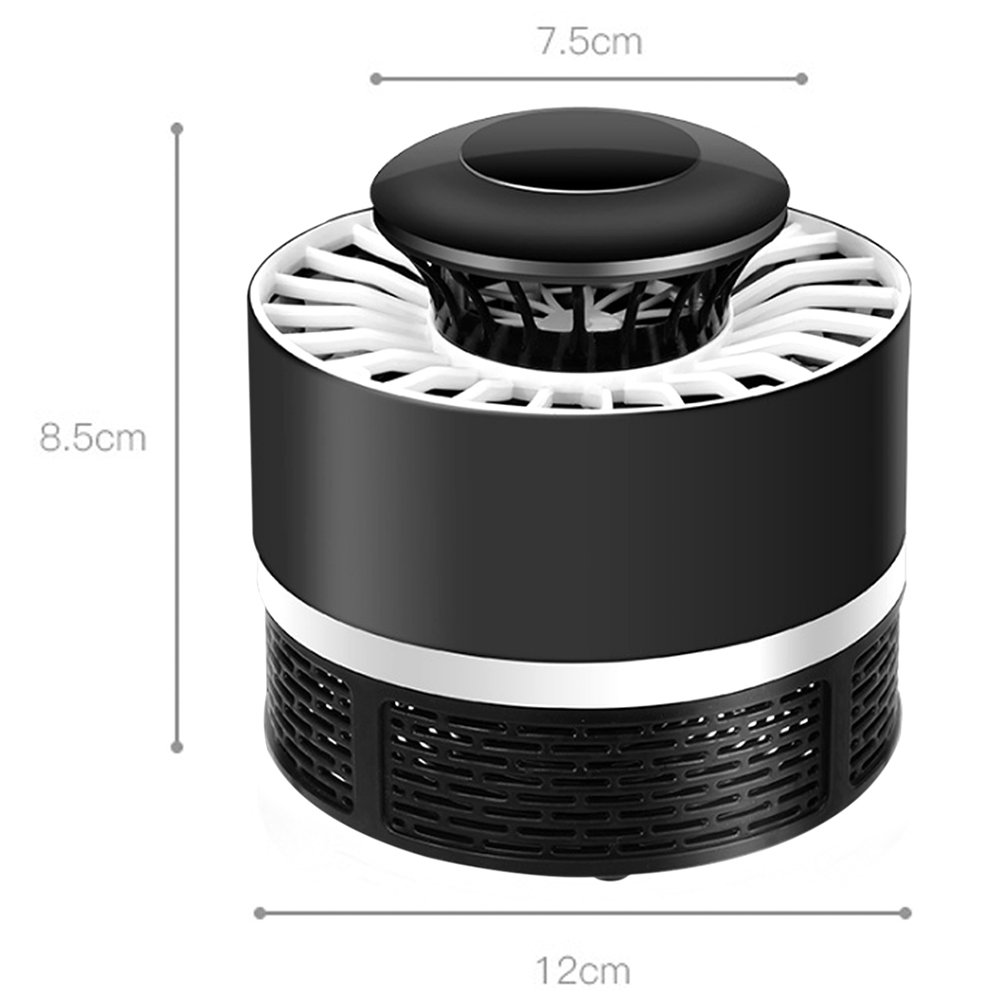 GUORZOM Indoor Mosquito Killer Lamp USB Power LED Mosquito Repellent Electronic Bug Zapper Mosquito Inhaler Night Lamp Fly Killer Mosquito Trap Light For Outdoor Camping Travel Home Garden, Black by GUORZOM (Image #6)