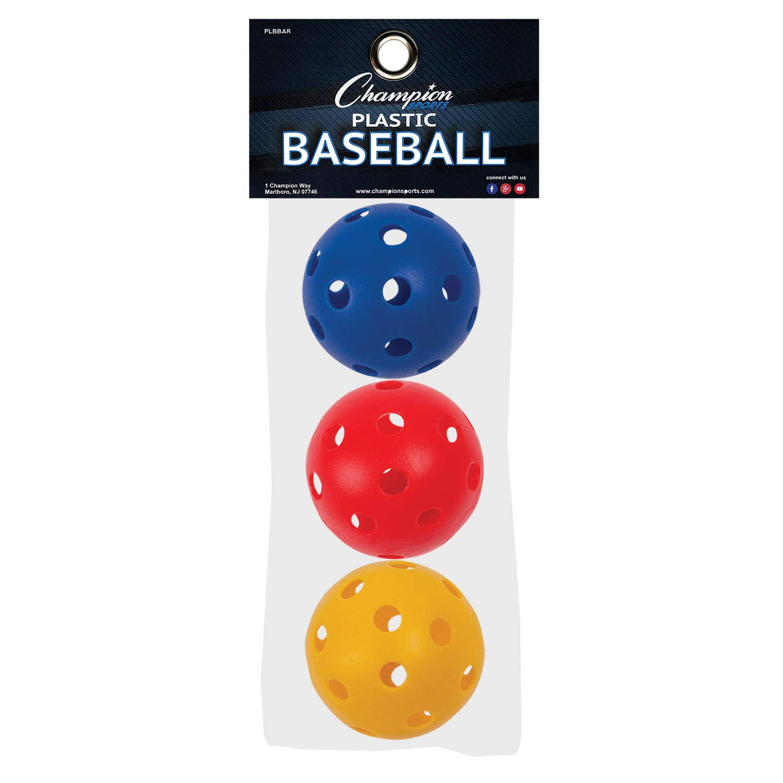 Champion - Sports Royal PLBBAR 9 in. Plastic Baseball, Red, Royal 3 Blue & Yellow - Set of 3 B002LF5OMG, grove:c0912175 --- sayselfiee.com