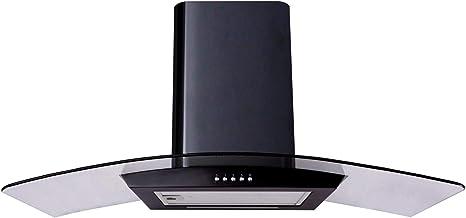 Sia cp101bl 100 cm – negro (Cristal, curvo Extractor de campana: Amazon.es: Grandes electrodomésticos
