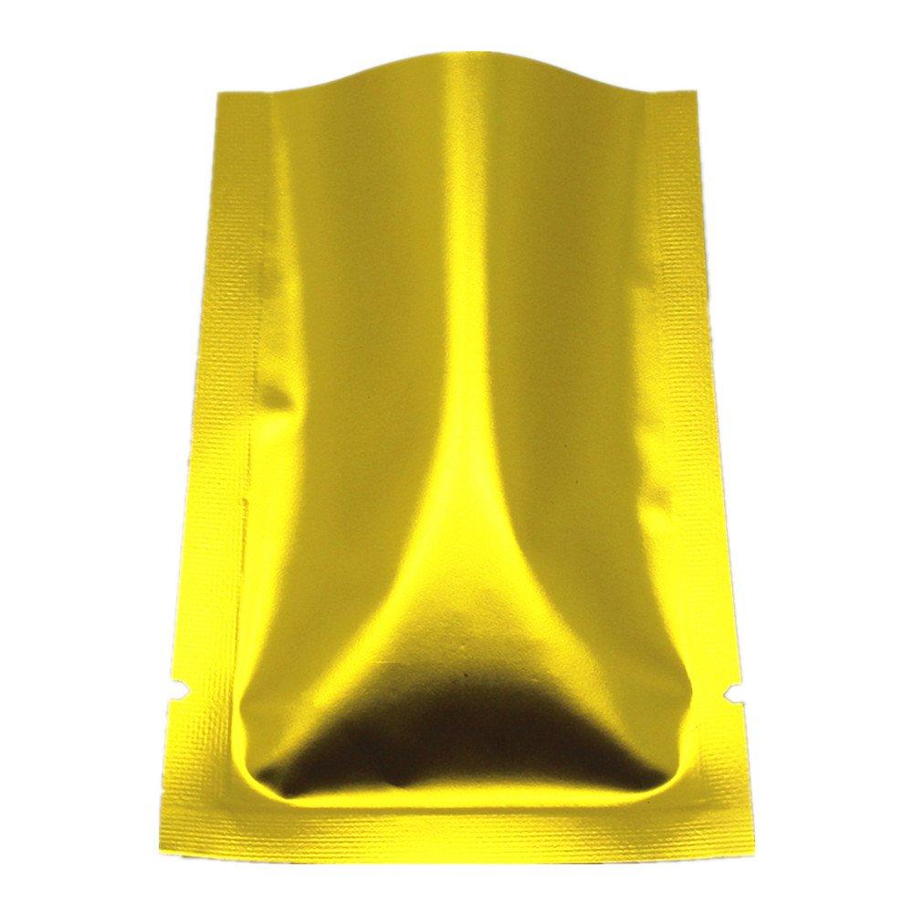 9 ディスカウント x 13 cm ゴールド アルミ 通常便なら送料無料 包装ポーチ オープントップ B07GXGX75S 食品包装袋 2000 貯蔵バッグ 収納袋 マイラー箔 真空ポーチ ヒートシール