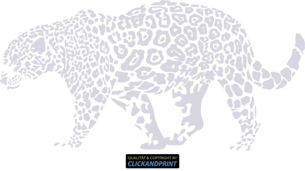 CLICKANDPRINT Aufkleber » Leopard, 150x74,4cm, Türkis • Wandtattoo   Wandaufkleber   Wandsticker   Wanddeko   Vinyl B073X8FBY4 Wandtattoos & Wandbilder