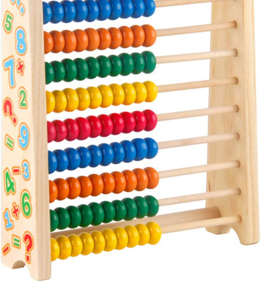 TOYANDONA Abacus Counting Number Frame Wooden Educational Counting ...