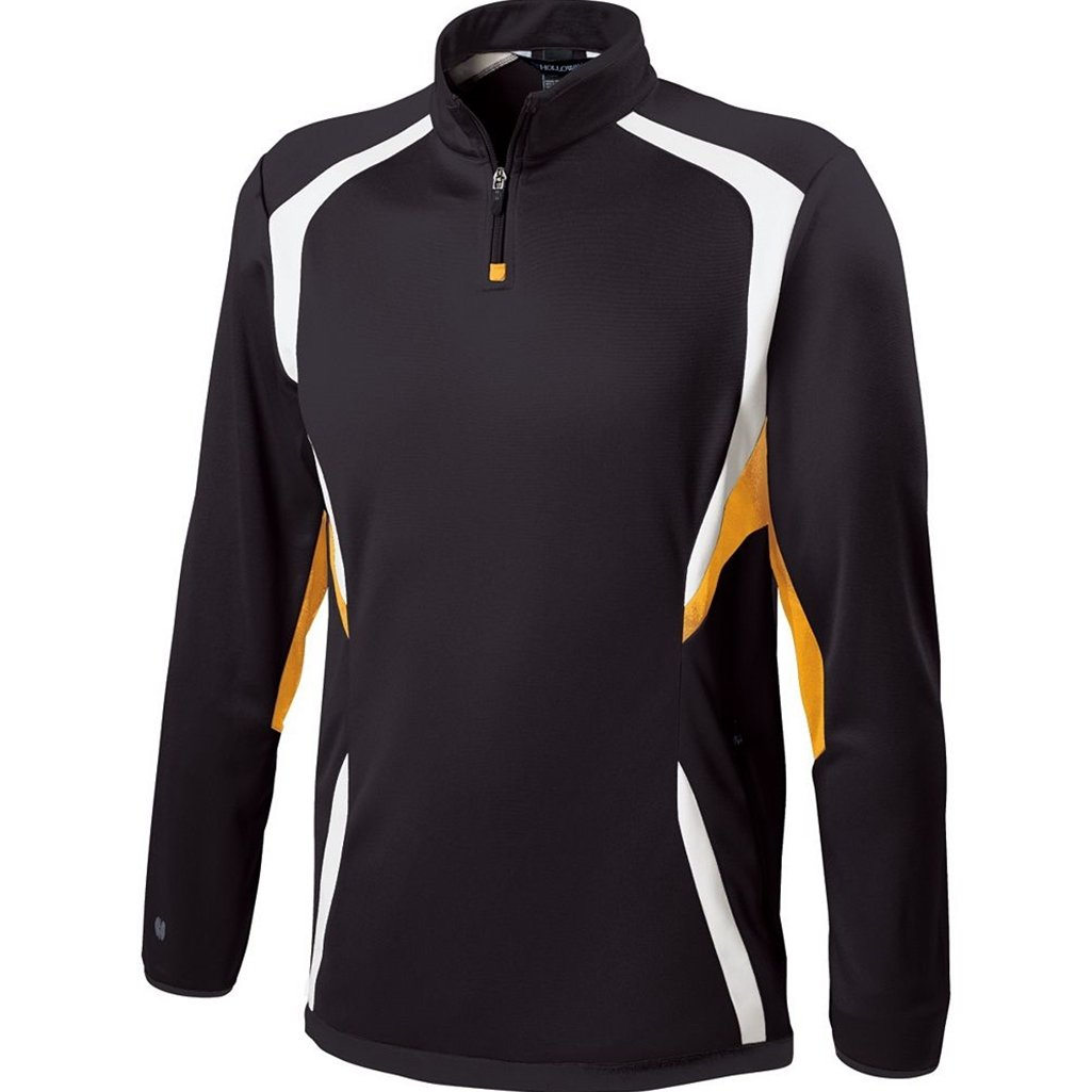 Holloway Youth Transform Pullover (Small, Black/Light Gold/White)