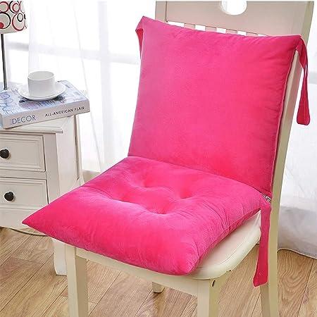 YAUUYA Cojines para sillas Decoración Casa y Jardin Hogar Cojín para sillas/Asiento Exterior con Respaldo bajo Acolchado Grueso/cojín de Suelo 40x40x10 cm - Relleno algodón: Amazon.es: Hogar