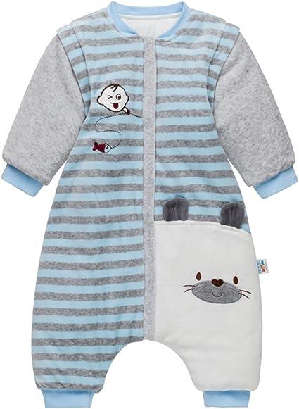 Bebé Saco de Dormir con Piernas Separable Algodón 3.5 Tog Invierno ...